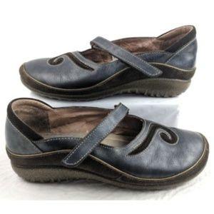 NAOT Matai Black Pearl Mary Jane Leather Shoes